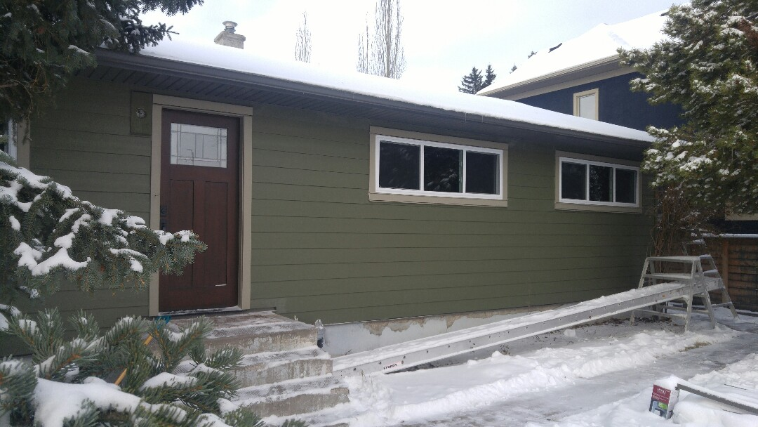 Calgary, AB - Nice project in SW James Hardie siding  James Hardie NT3 corners Sweet