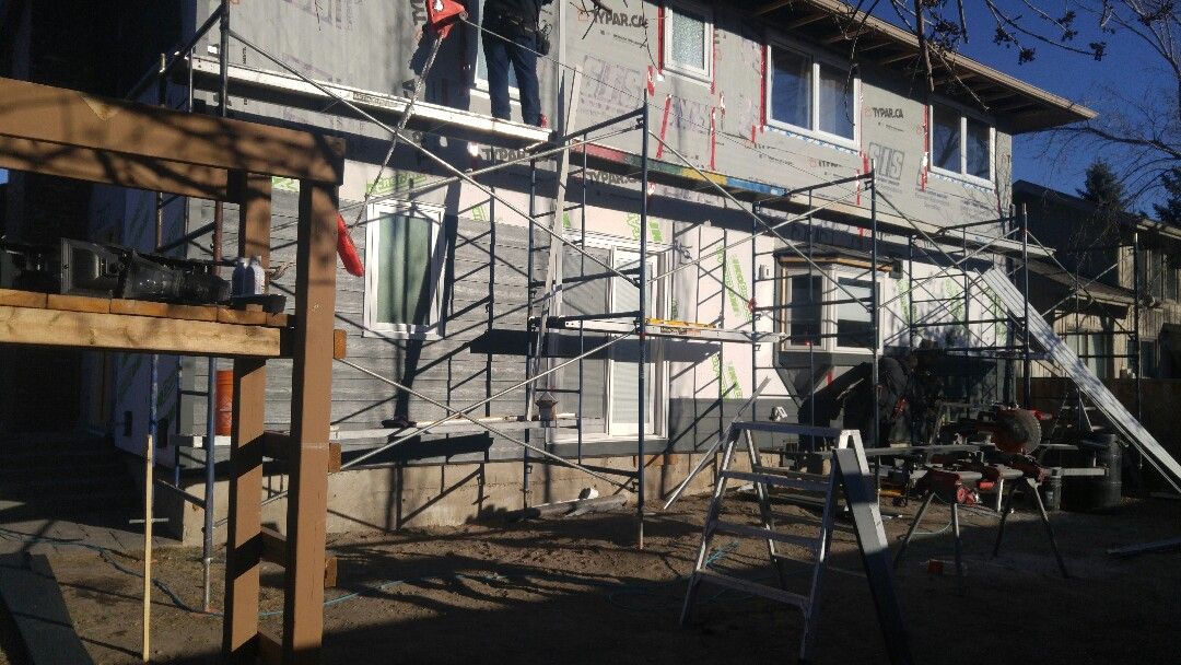 Calgary, AB - Another home in the SE James Hardie siding Iron Grey James Hardie NT3 corners Iron Grey More pics to follow