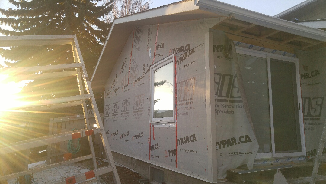 Calgary, AB - Nice, starting to install the James Hardie siding James Hardie NT3 corners trim