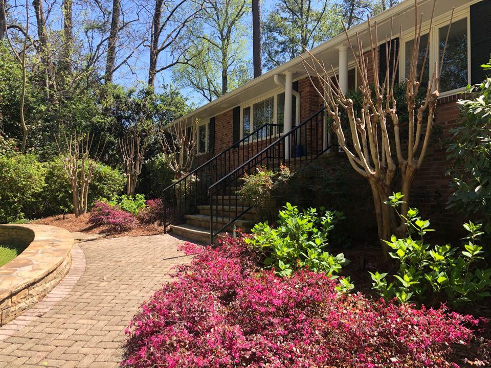 Atlanta, GA - Installing outdoor lighting for customers home in Buckhead