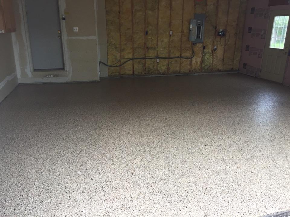 Saint Paul, MN - Polyurea garage floor complete! Thank you Mark for hiring BAC to complete your garage floor in Maplewood!