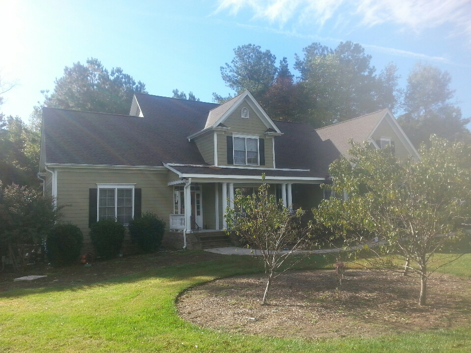 Youngsville, NC - finishing new lifetime roof and new deck in Wake Forest, NC...by Spilman inc. ....they are extremely pleased with workmanship and courtesy of crew! This customer is writing an outstanding review for us on Google & AngiesList....he is HAPPY,  & so are we.