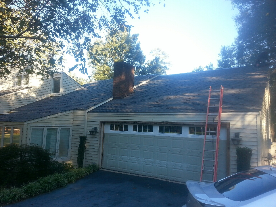 Wendell, NC - finishing flashing on new lifetime roof install in Wendell,  NC...by Spilman inc. ...