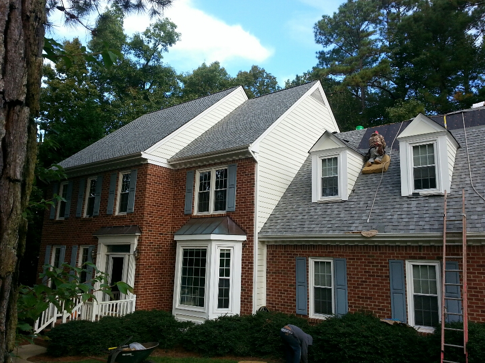 Cary, NC - finishing lifetime warranty Certainteed Landmark roof in Cary, NC...Spilman inc IS the Best value in quality roof replacements at affordable prices.....AngiesList has our back....w/10 00 ' s of satisfied customers across NC to verify our statements.