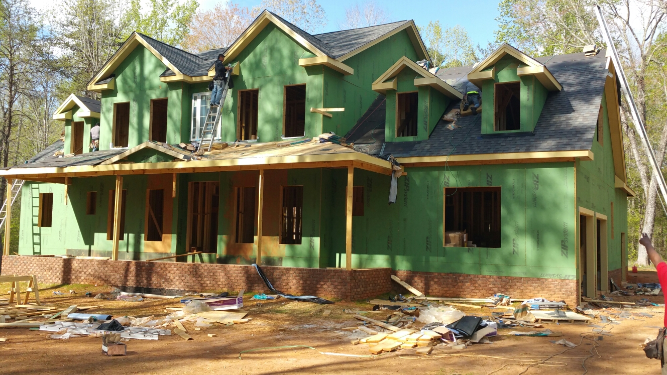 New country farmhouse in Hillsborough, NC by Spilman,inc. Roof is CertainTeed Landmark Driftwood, siding to be Hardi-plank....call or click today for your FREE estimate! (919) 510-0280 www.spilmaninc.com