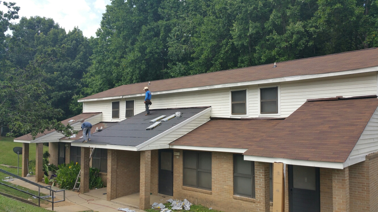 Reroofing 600sqs for Monroe Housing Authority, our HUD project with Arc Contracting....call or click today!!! (919) 510-0280 www.spilmaninc.com