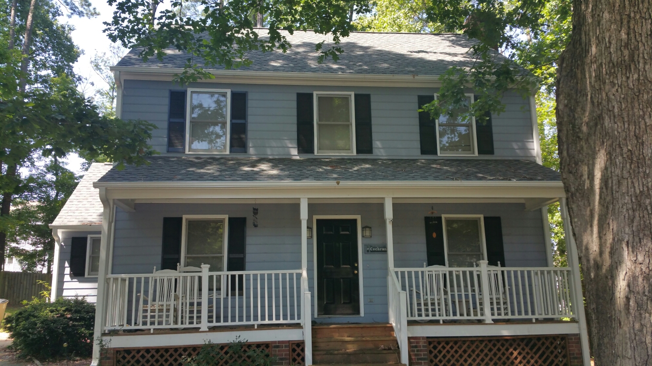 Roof replacement from 2013 in Cimarron in Wake Forest, NC by Spilman,inc....still looking great! We also painted the house after replacing all rotten siding and fascia, installing new seamless gutters too!! Call or click today for your FREE Estimate....(919) 510-0280 www.spilmaninc.com