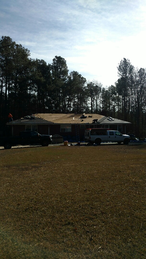 Creedmoor, NC - 5-7 miles East of Durham, NC, Spilman installing a new Lifetime Warranty Roof,
