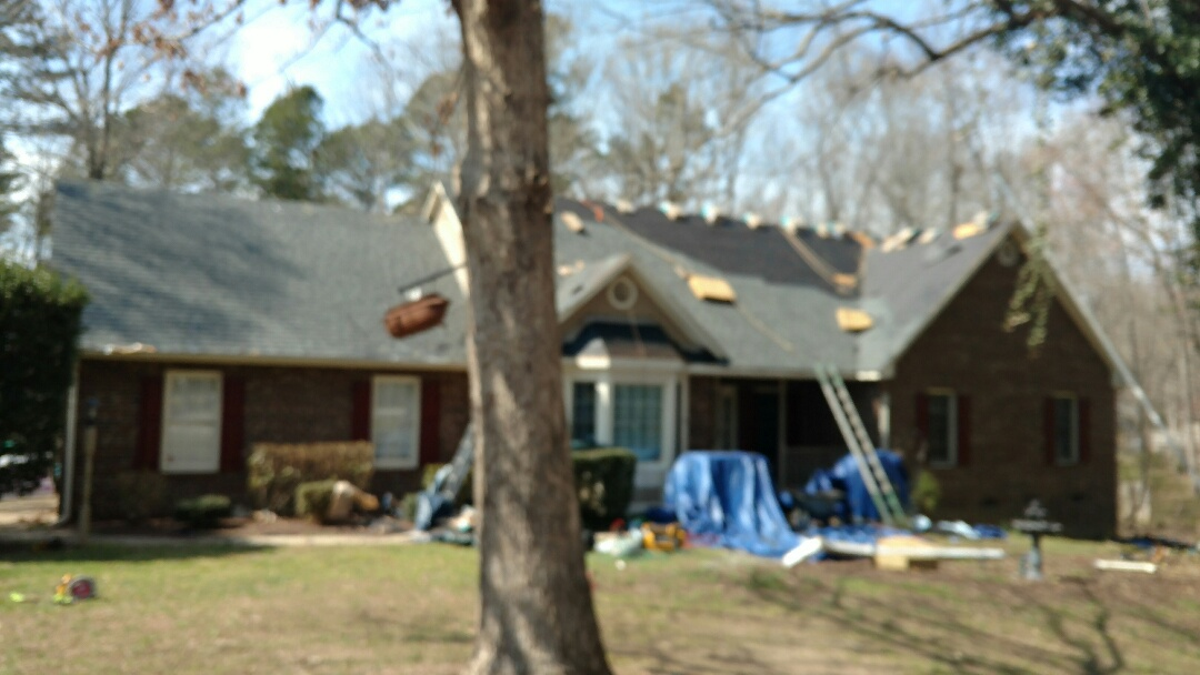 Wake Forest, NC - Finishing touches, Full roof replacement by Spilman, Inc.!! Seamless Gutters to follow...Keep a look out for future pics & final shot! www.spilmaninc.com (919)510-0280