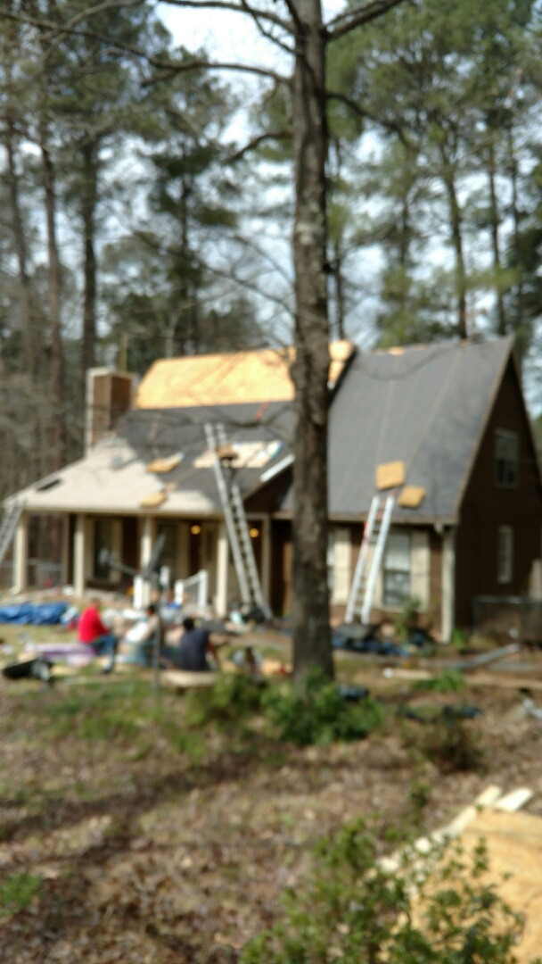 Creedmoor, NC - New Roof in Creedmoor, NC by Spilman and crew.... Lifetime Warranty. Replacement of bad sheathing is crucial when replacing a roof. Call or click www.spilmaninc.com (919)510-0280
