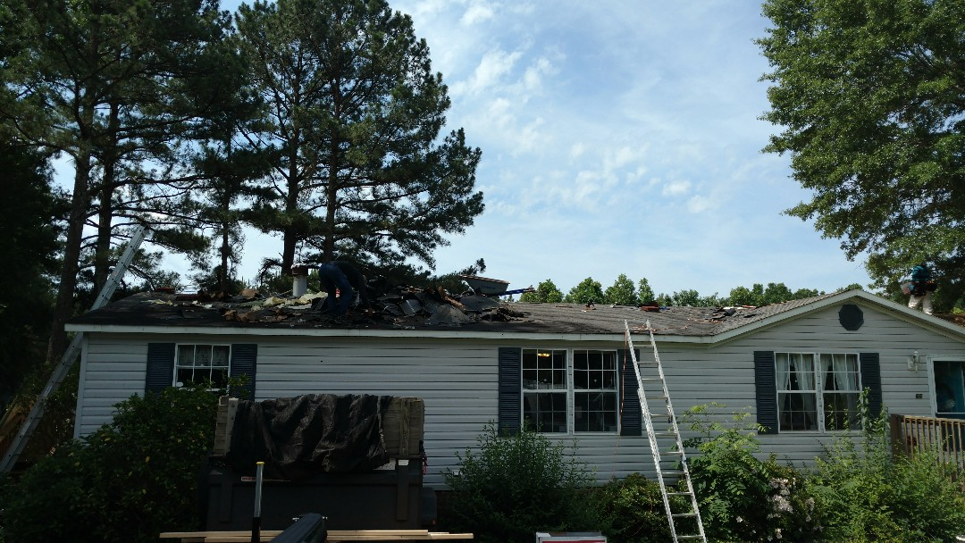 Franklinton, NC - Here we are replacing a 22square roof w/Certainteed XT25 AR, A Superior 3-tab shingle, with Algae resistance qualities....Spilman,inc. will replace this roof in less than 1 full work day...call or click today; Free Estimate... www.spilmaninc.com (919)510-0280