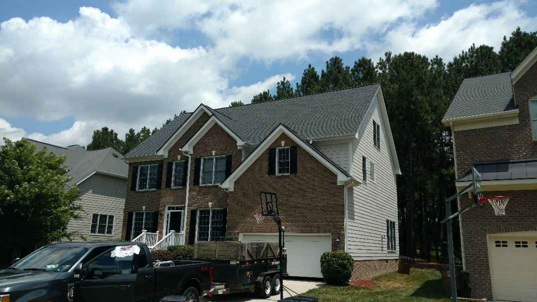 Wake Forest, NC - 100% Complete, Full Roof Replacement in Wake Forest North Raleigh area..... Spilman & his 'S' crew blasted this roof out, and customers are ecstatic over the curb appeal this Certainteed Landmark roof brings!!! Call (919)510-0280 Or, go to: www.spilmaninc.com...OR Look on Google for roofers Wake Forest, Spilman,inc. should come up!