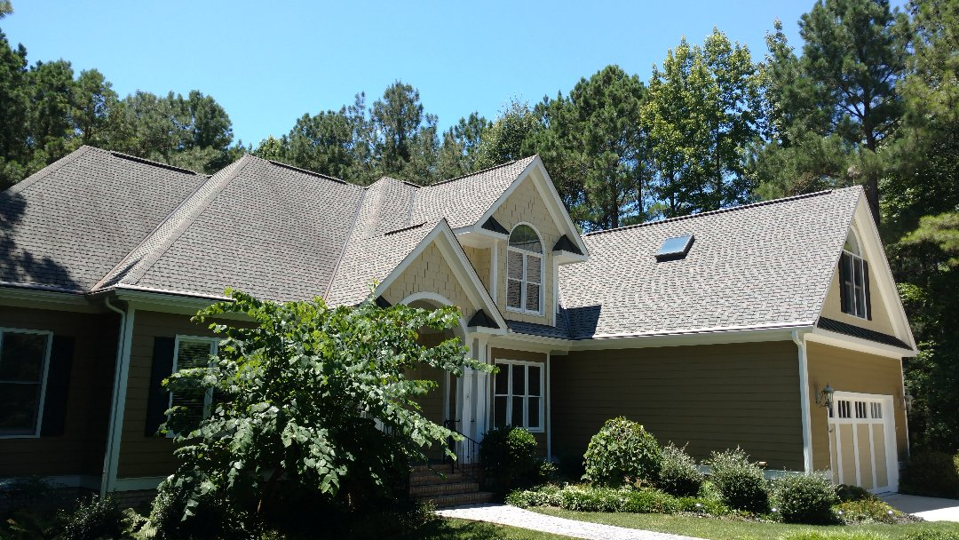 Wake Forest, NC - Beautiful custom home built by Master Builder J.Chris Spilman in 2003 for Wake county Parade of homes....50year Elk Capstone asphalt roof Shingle still looks fantastic, 15yrs after installation...call or click Today....for your FREE Estimate...Roofing, Siding, gutters, painting, & more.......(919)510-0280 www.spilmaninc.com