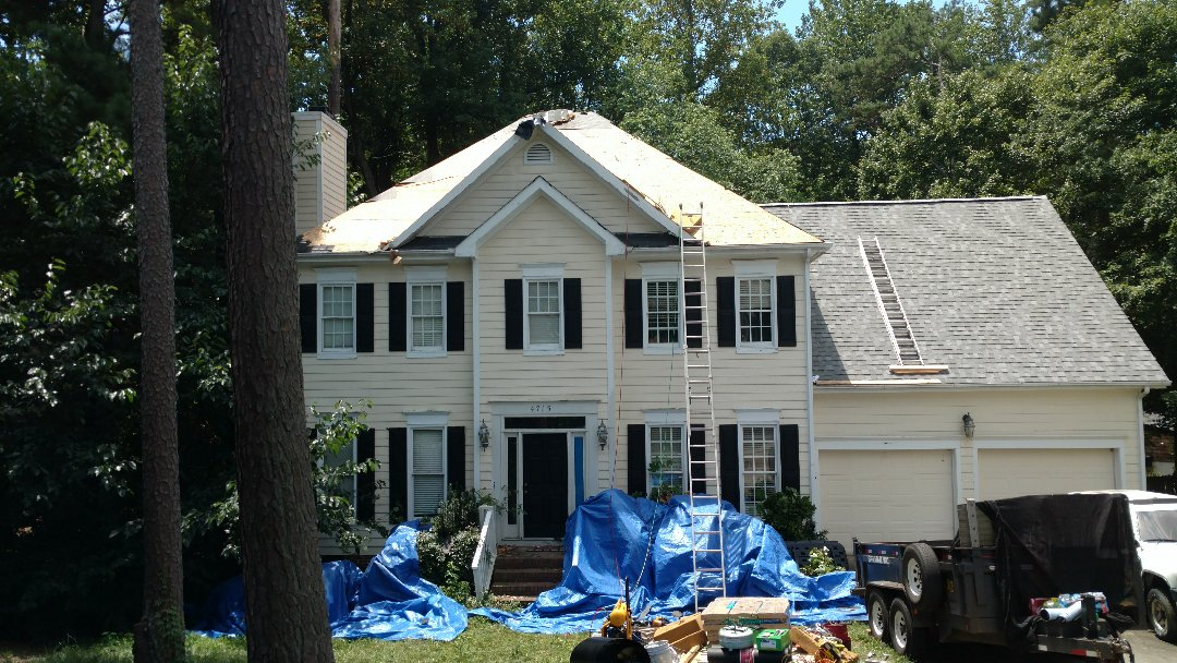 Sheathing Inspected and nailed off, now we install Ice & Water Shield in the valleys, apply felt paper, and shingle away!!! Spilman,inc. providing another North Raleigh resident w/comfort and peace of mind that comes with a Spilman,inc. Roofing PROS job....call or click today for FREE Estimate....(919)510-0280 www.spilmaninc.com