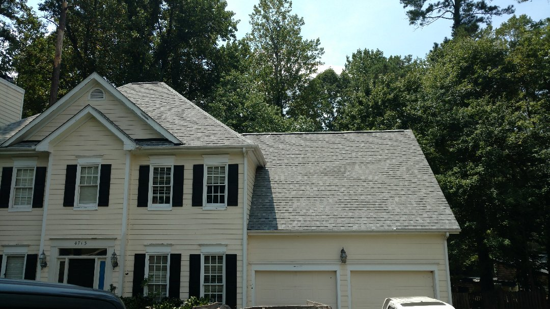 Finished; Certainteed Landmark Cobblestone Grey roof package w/adequate ridge ventilation...Spilman,inc. Roofing PROS , north Raleigh s premier residential roofing installer. (919)510-0280 www.spilmaninc.com FREE ROOFING ESTIMATES, Always. 15 year Labor & Lifetime manufacturer warranty.