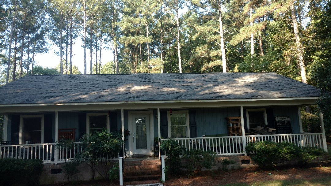 "New Roof, Completed.....seamless Aluminum Gutters, Jumbo 3""x4"" downspouts and Shur-Flo gutter guards -Next!! Call 0r click TODAY!! (919)510-0280 www.spilmaninc.com"
