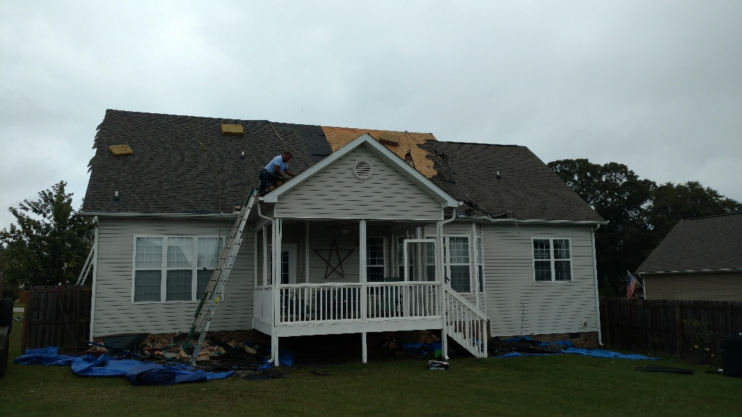 Hailstorm damage in Willow Springs, NC...Roofing , siding and Gutters; typically, home owners insurance policy will cover Full Replacement!! Call Spilman,inc. to handle your claim today!