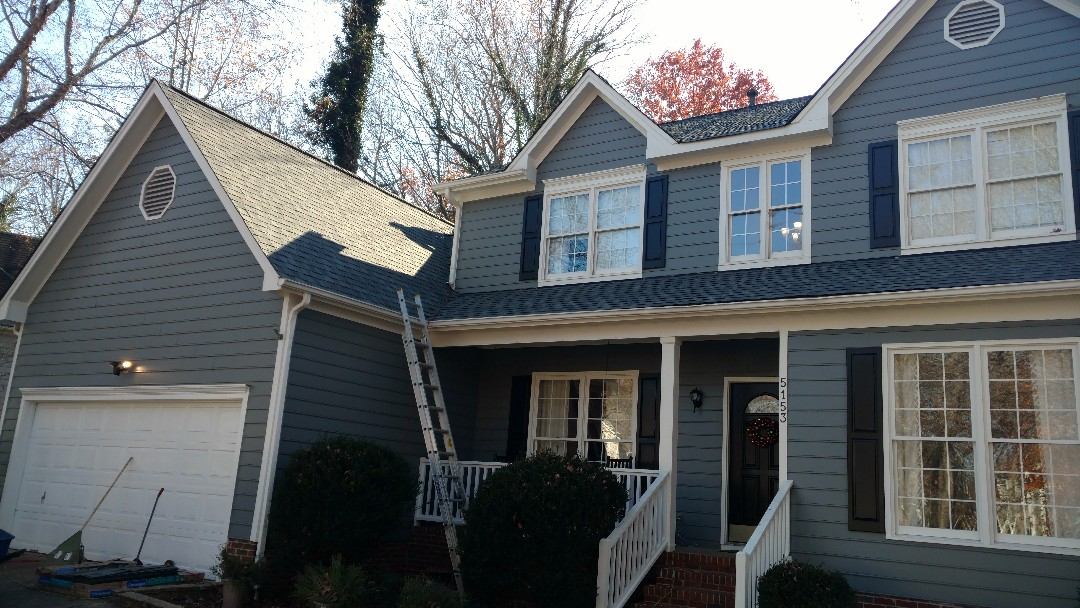 Raleigh, NC - Finishing another beautiful roof replacement in North Raleigh! Harrington Grove subdivision in North Raleigh, one of our favorite neighborhoods to work. Call or text for quality roofing @Affordable prices, with warranty and first rate materials. (919)510-0280 www.spilmaninc.com