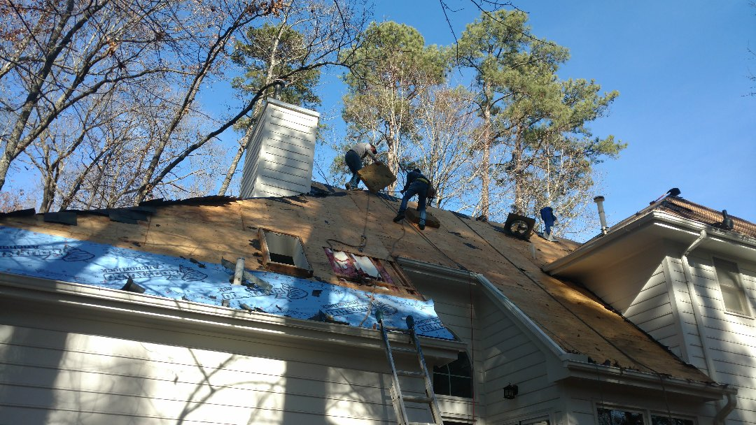 "Raleigh, NC - Proper skylight Installation...by Spilman,Inc. we always insist on replacing any existing skylights when we replace a roof. Reason being, unless the skylight(s) less than 5-7 yrs old, it will not last as long as the New Lifetime Roof Replacement; therefore, we offer a nice discount on the skylight if we install @tine of New Roof. Always place Ice &water shield up the sides of curbing around new skylight and install New Flashing kit to manufacturers specs. Doing this will insure a ""Dry"" future!"