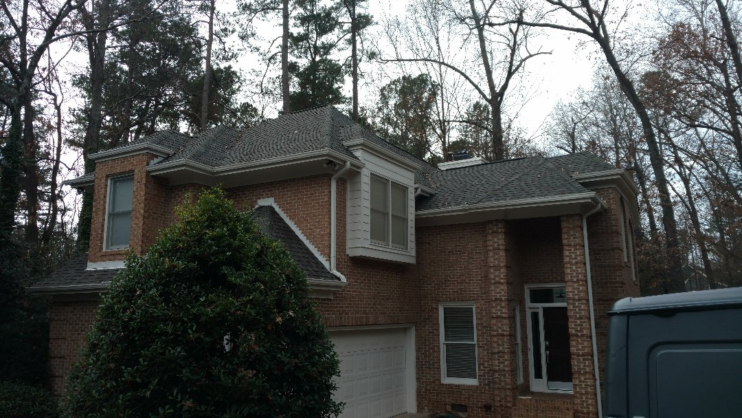 Raleigh, NC - Finished Product!! Certainteed Landmark Weathered Wood in n.Raleigh subdivision off Falls of the Neuse....Spilman,inc. completes another roof replacement in NC. Call (919)510-0280 0r click Today for your FREE ESTIMATE...www.spilmaninc.com