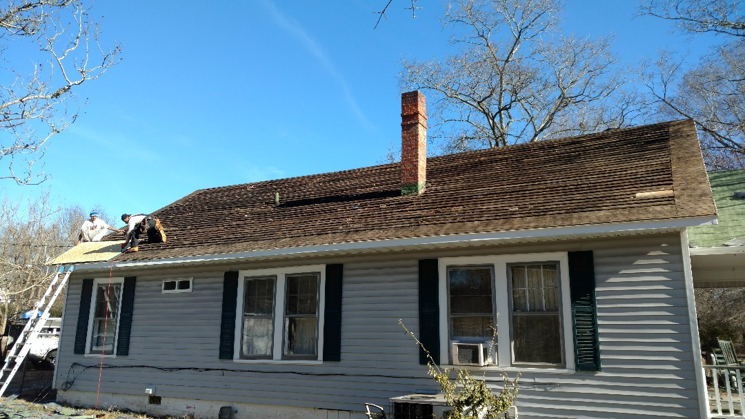 Replacing ALL Roof sheathing!! Spilman,inc. dos a Fantastic job on this Civil war era home in Youngsville,. NC....