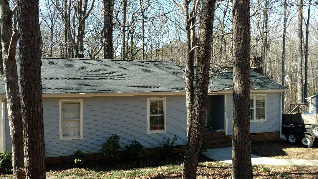 Raleigh, NC - Another GAF Timberline HD Charcoal roof in Raleigh, NC by Spilman and crew!! Lifetime Warranty Architectural shingle roof package @Extreme Value.  Continuous ridge ventilation is so important for efficiency and longevity of roof and home... Call or click for your FREE ESTIMATE.... (919)510-0280 www.spilmaninc.com