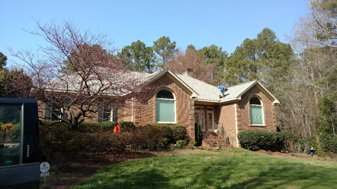 99% Complete;  Beautiful roof replacement in Stonebridge subdivision of North Raleigh, NC. Spilman,inc. Roofing PROS has built a reputation for customer satisfaction w/Value pricing', hard to find in the world today!!