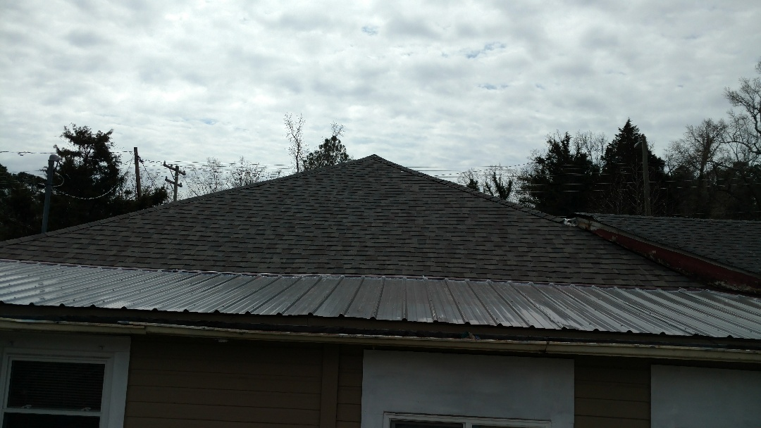 New metal roof and architectural shingles in Durham, NC,.,..by Spilman,inc....
