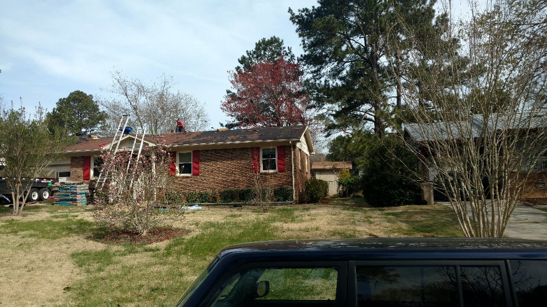 Another new roof in Raleigh, actually Garner, NC....just south of Raleigh. 20 squares of Certainteed Landmark in Mojave tan will definitely look sweet on this little brick ranch home. Spilman,inc. will complete this tear off and re-install in 1 day... actually by 3p.m. and w/All our usual warranty and top quality workmanship. Call or click today... (919)510-0280 www.spilmaninc.com