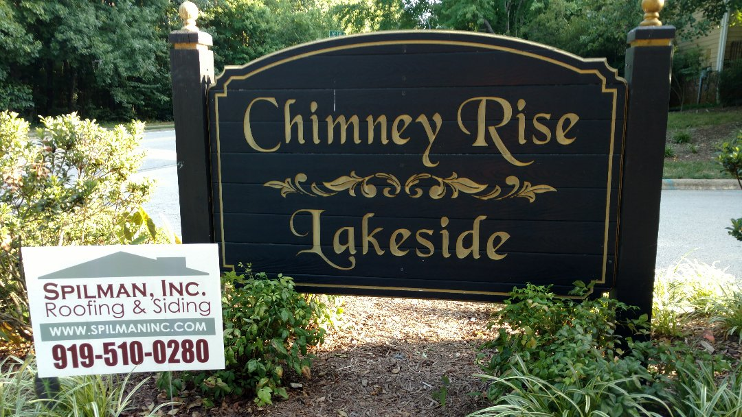 "Cary, NC.. Chimney Rise Condominiums & Townhome community hired SPILMAN,inc. Roofing PROS in 2011 for advanced scheduling of all remaining roof replacements; And here we go Again! This is definition of ""repeat customer""! We give them quality workmanship @affordable, guaranteed pricing, and we continue to be their ""Go-To"" guys...This type of devoted, respected and reliable client is why we are Respected in the Industry, as a leader an most trusted contractor. www.spilmaninc.com (919)510-0280"