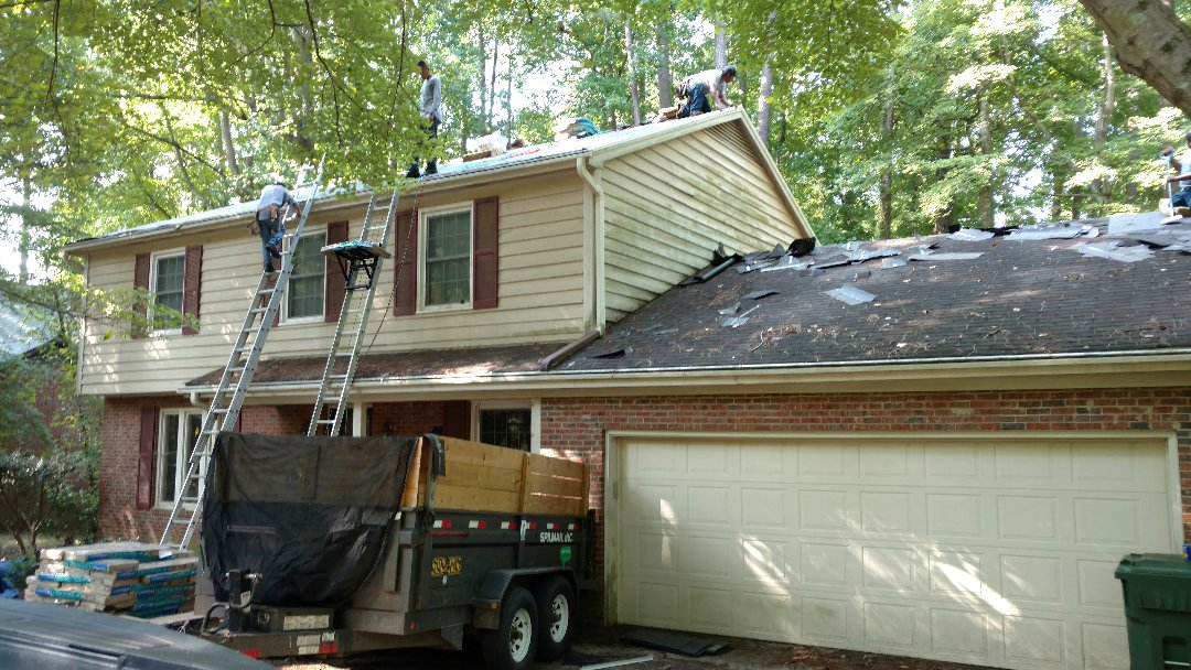 Starting another roof replacement in Cary, NC. Spilman,inc. does approx. 100 residential roof replacements annually, and we give each & every customer the highest quality workmanship and attention to detail. We will complete this Certainteed Landmark lifetime architectural Roof package Today. Our skilled technicians can typically install an average size home/roof (25-28sqs) in 1 day. Get Your FREE quote Now @www.spilmaninc.com or (919)510-0280
