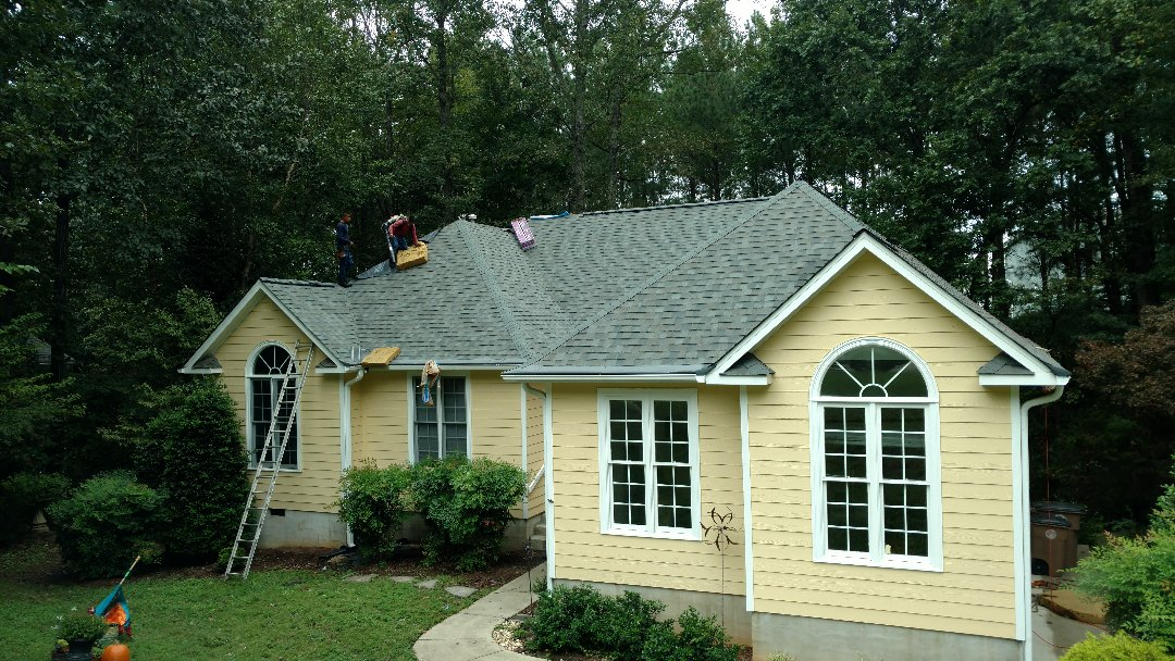 Finishing a Spectacular lifetime warranty architectural Roof in Wake Forest, NC...SPILMAN & assoc. Completing another roof replacement, for a Value, w/Longest Labor warranty in USA! We love roof replacements in NC that look this Good, after we complete the renovations!! Call (919)510-0280 www.spilmaninc.com