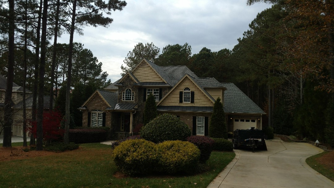 One Fantastic Job After Another....here in Lovely Wake Forest, NC Licensed General Contractor Spilman,inc. replaces another Roof, gaining several more clients in this subdivision in the process!