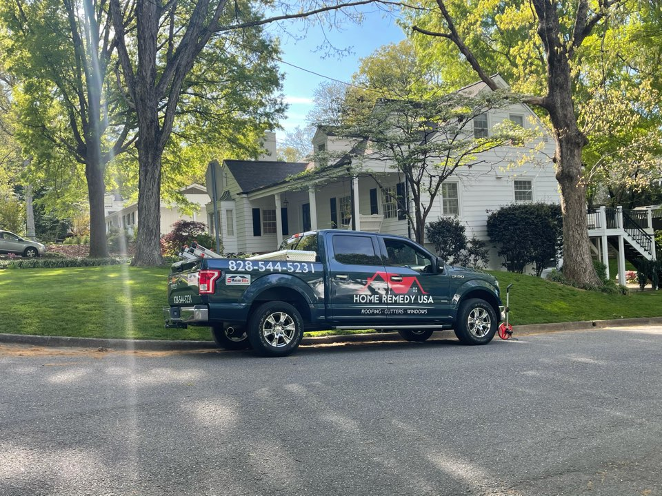Hickory, NC - New Gutter Guards for this new home owner in Hickory , NC