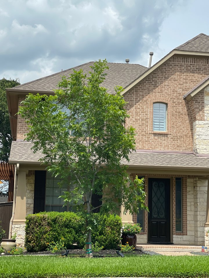 Cedar Park, TX - Hail storm damage roof inspection. Insurance claim filed for full replacement.