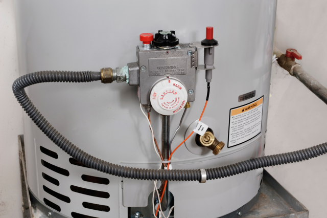 Install new gas line on gas water heater