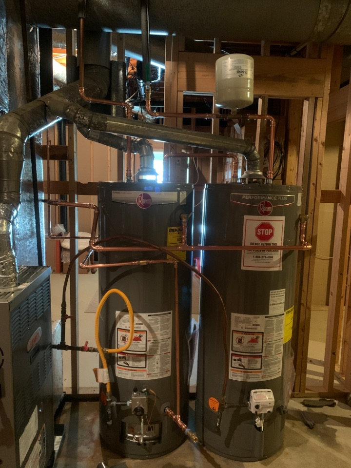 Duluth, GA - Install 50 gallon water heater with circulating line and repipe