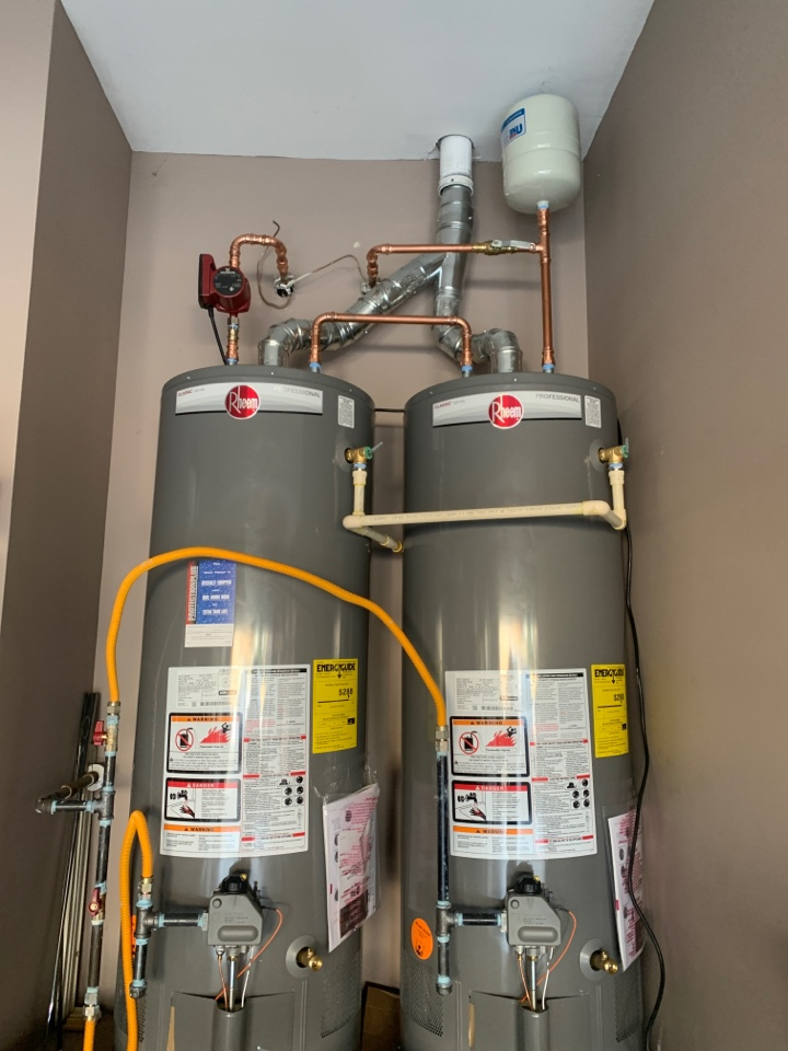 Lawrenceville, GA - Install 2 water heaters, circulation pump, bypass valve