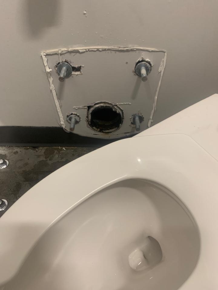 Atlanta, GA - Reset wall mounted toilet