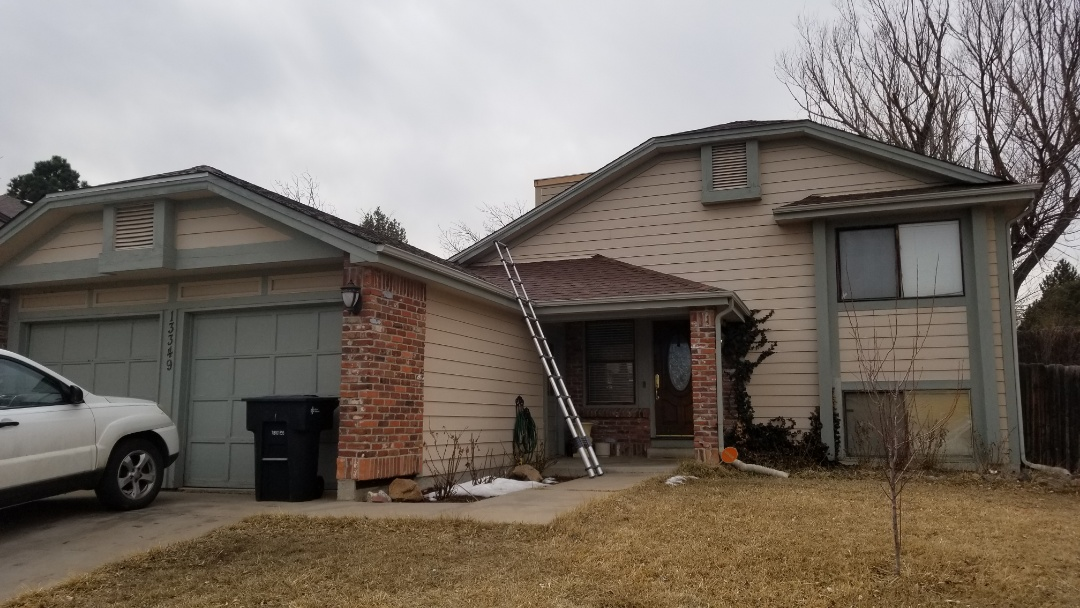 Thornton, CO - We completed a skylight repair where water had been getting in due to some insufficient flashing on the roof.