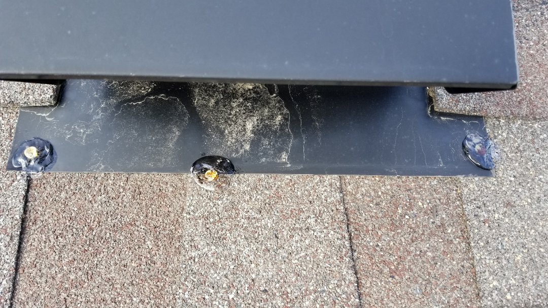 Englewood, CO - We completed small roof repair on this roof where the roof vent was leaking.