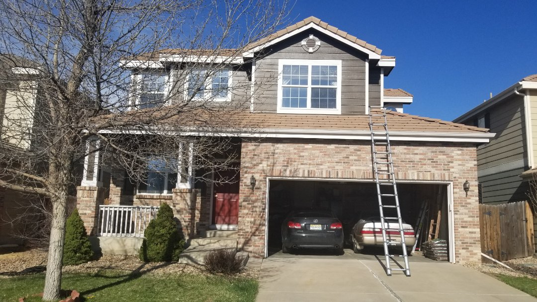 Aurora, CO - We completed a concrete tile roof repair for a house that is being sold. The flashing was installed improperly so we added flashing and calking and put it all back together.