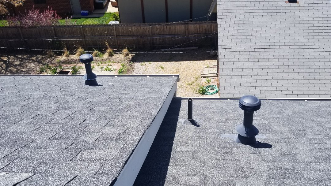 Denver, CO - We did a quick roof repair today. We changed out a few roof vents that were allowing water to get into the ceiling.