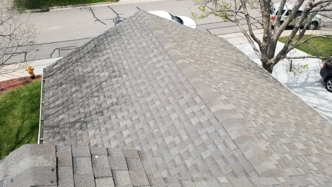Littleton, CO - We are doing a roof inspection today looking for hail damage to a roof with solar panels