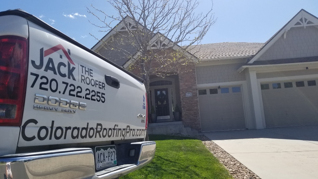 Castle Rock, CO - We are giving a gutter quote to replace all the gutters and downspouts on this house