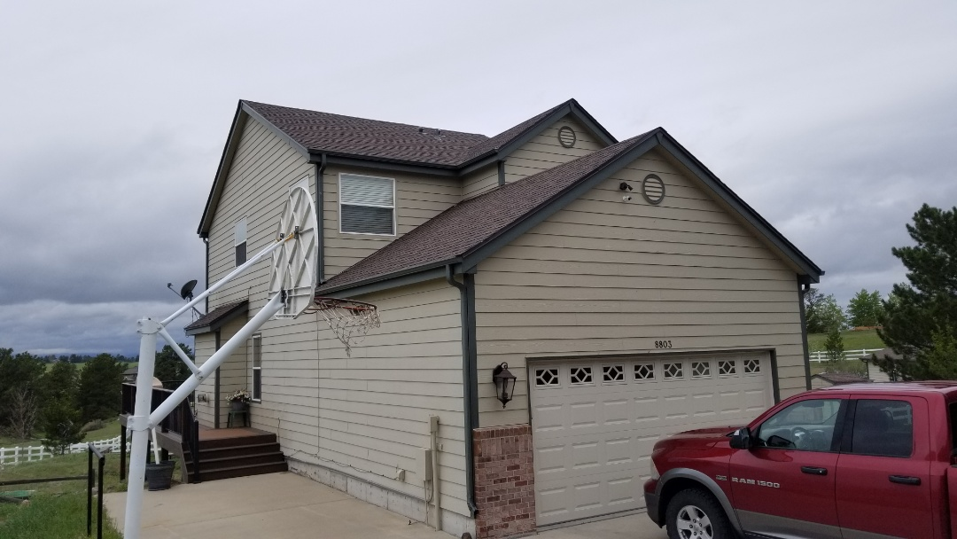 Parker, CO - We are finishing up some roofing work for a gentleman who recently sold his house in Elizabeth.
