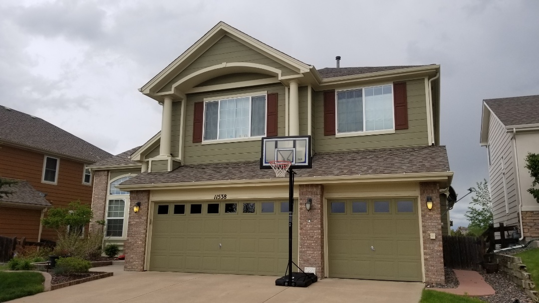 Parker, CO - We are assessing a gutter leak on gutters on this house. We will determine if they can be resealed or if new gutters are in order
