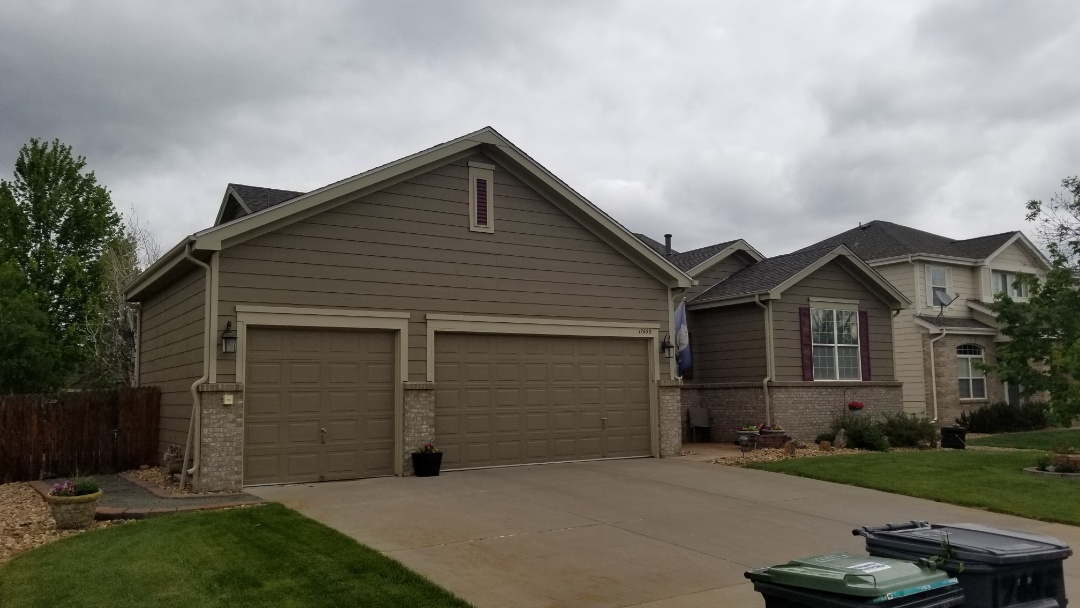 Parker, CO - We did a full roof replacement on this house and added ventilation to make the garage cooler. We also replaced a section of gutter and did some soffit repair.