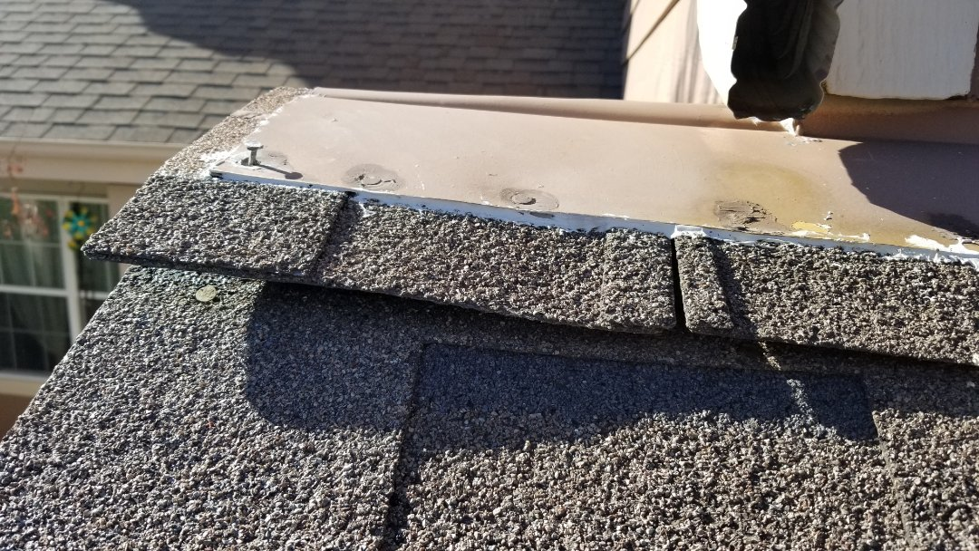 Castle Rock, CO - We are repairing some roof flashing that has separated from the roof and makes the roof susceptible to leaking