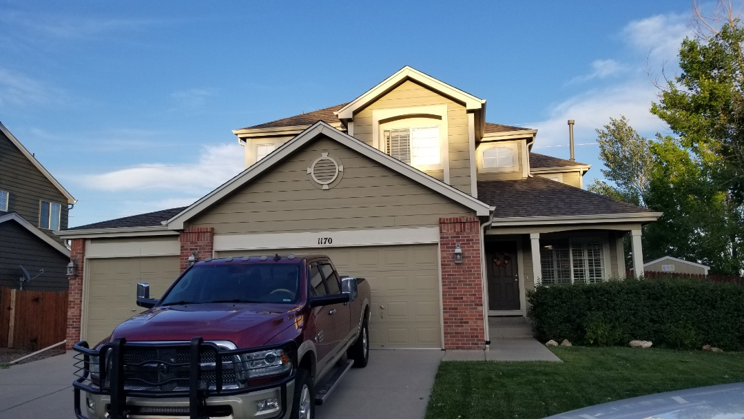 Castle Rock, CO - We are doing a roof inspection on another house in Castle Rock due to the hail storm last week